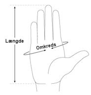 Mål af handskestørrelse