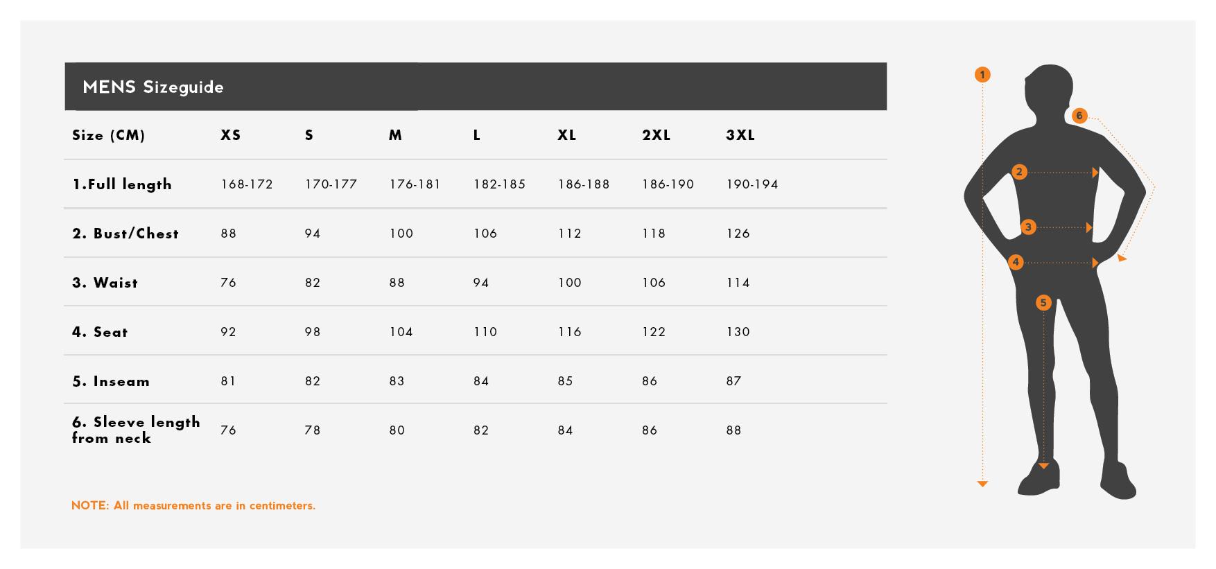 69e6fd3e6 Tenson regntøj mænd størrelsesguide / size chart / storleksguide ...